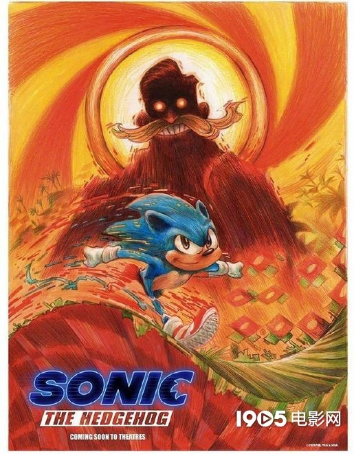 Sonic The Hedgehog Releases Poster Sonic Runs Away To Avoid His Villain